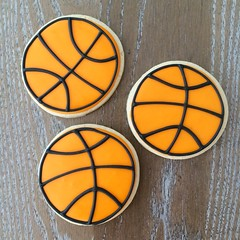 Basketball Cookies 3""