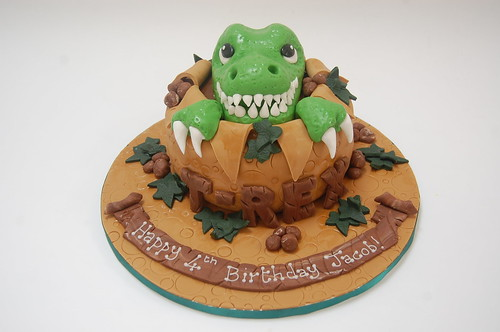 Pleasant T Rex Cake Beautiful Birthday Cakes Personalised Birthday Cards Paralily Jamesorg