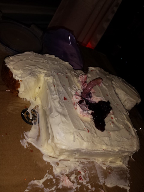 Chestburster cake after emergence 2