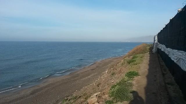 La costa desde el borde de los invernaderos #MediTB15