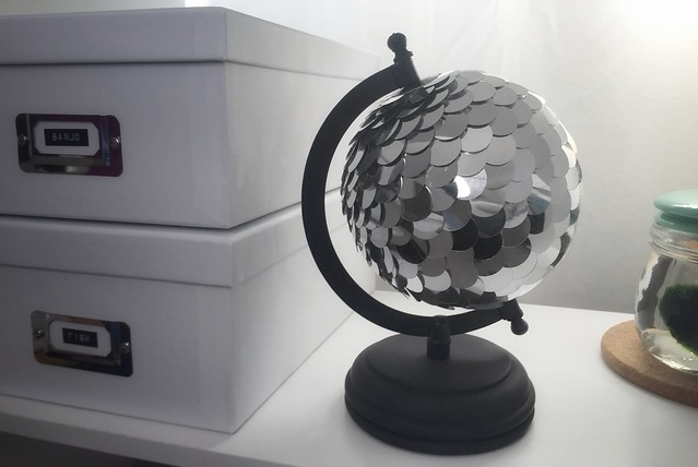 Sequin Globe DIY