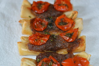 Tomato and Caramelised Onion Galettes