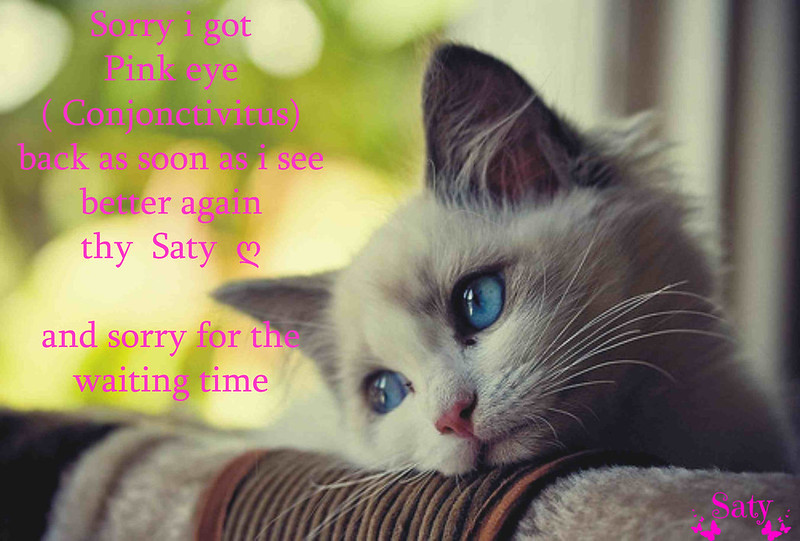 sorry got pink eye
