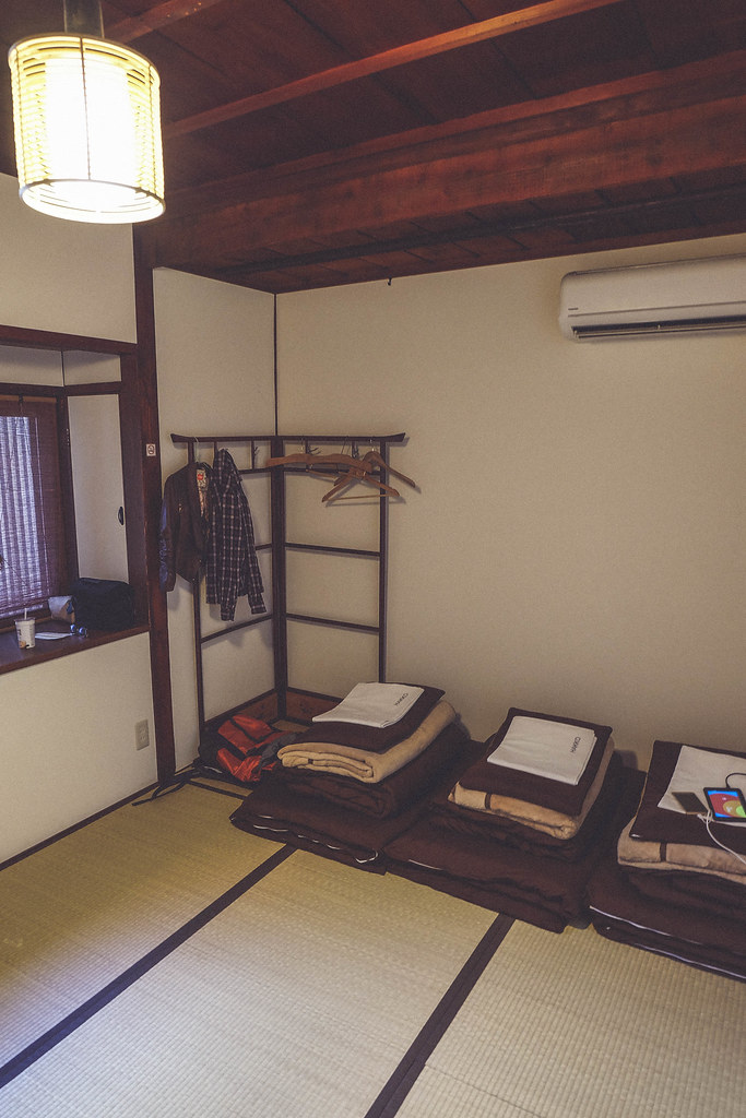 Our traditional Japanese room in Tenma Itoya Guesthouse