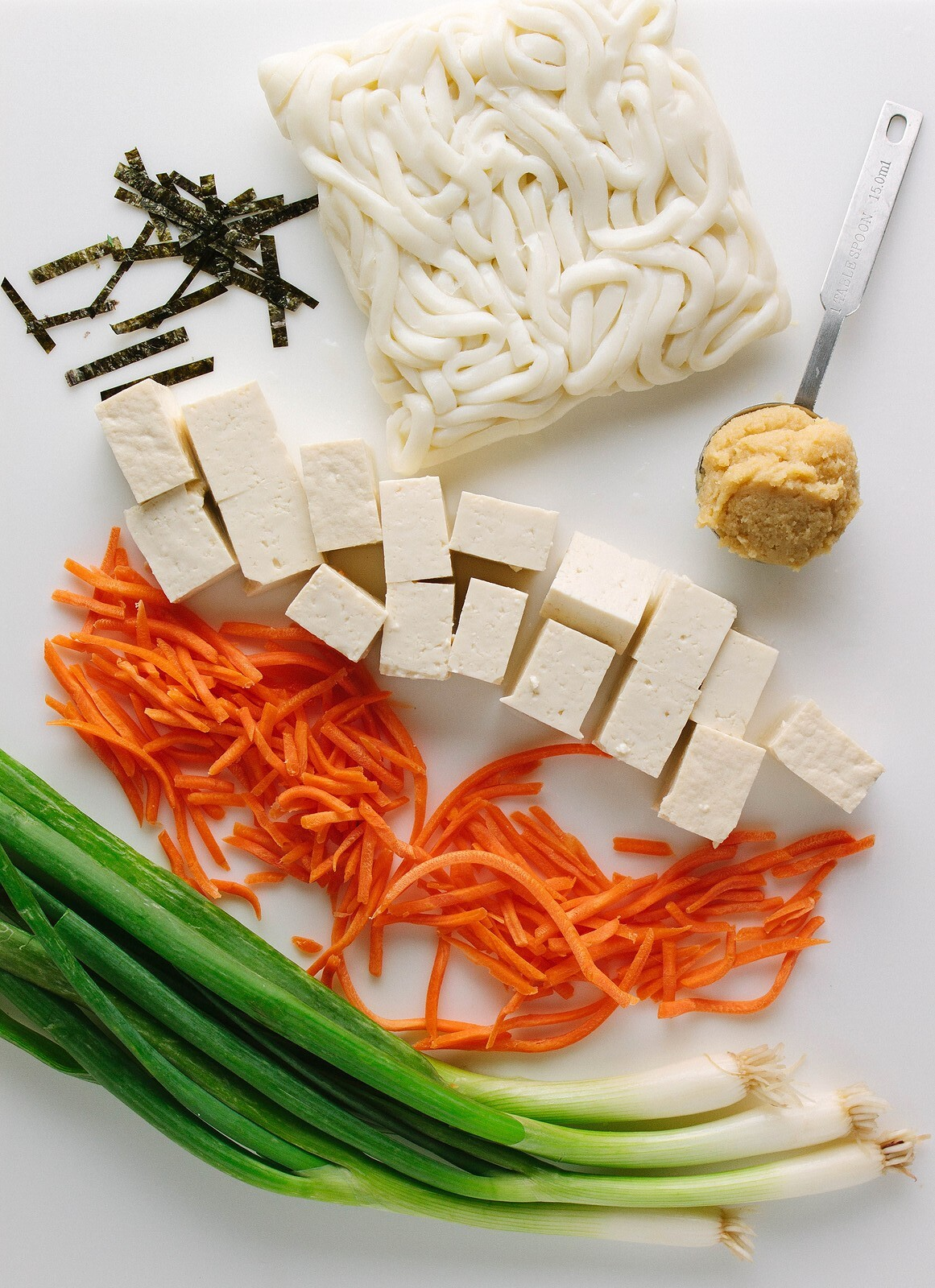 SIMPLE TOFU MISO NOODLE SOUP: Ingredients