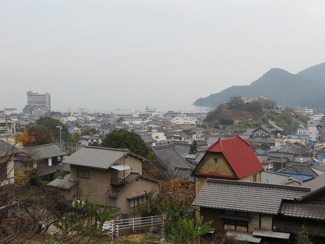 View from Ioji Temple (including Ponyo's house!)