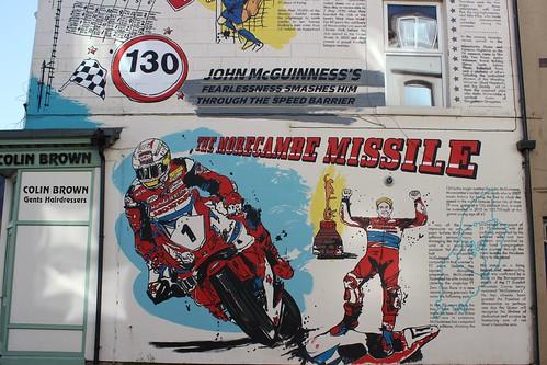 John |Mcguinness TT mural close up.