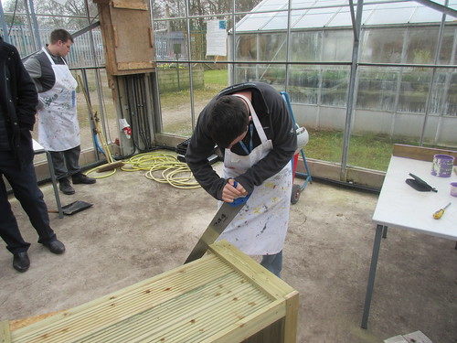 College helps Community Garden Group