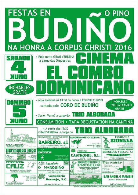 O Pino 2016 - Festas do Corpus en Budiño - cartel