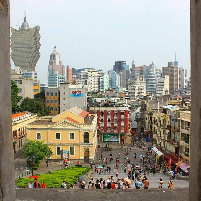 South view from the Ruins of St. Paul, Macau, fotoeins.com