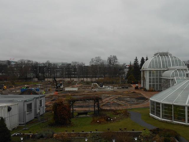 Helsingin Kaisaniemen kasvitieteellisen puutarhan remontti - Tilannetta 8.11.2014