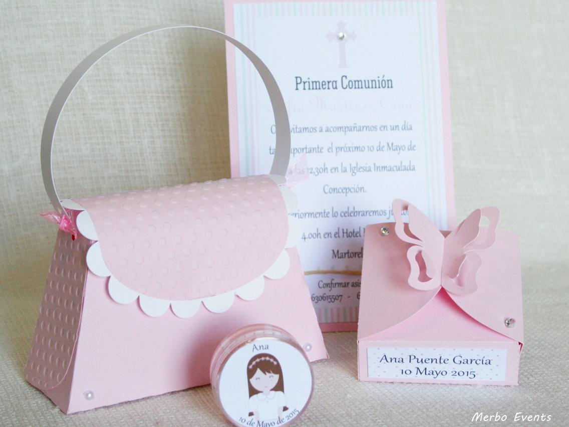 conjunto rosa detalles comunion