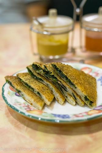 Sesame Spinach Pancake