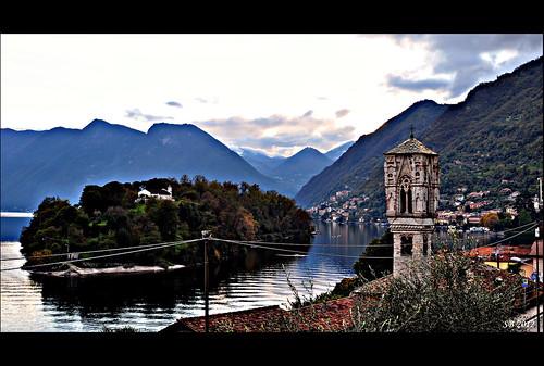 italy lake como saint lago island landscapes italian nikon san italia maria mary belltower campanile maddalena paesaggi lombardia magdalena 2012 isola lario comacina d90 ossuccio