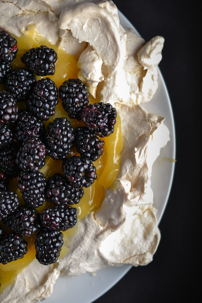 Lemon Curd and Blackberry Pavlova | Things I Made Today