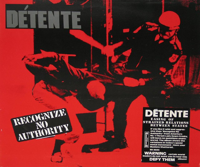 "DETENTE RECOGNIZE NO AUTHORITY 12"" Vinyl LP"