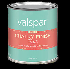 """Valspar's chalky finish paint helps create a """"shabby chic look"""