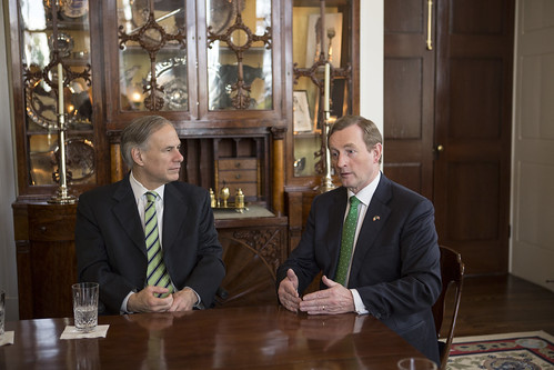 Taoiseach Meets with Prime Minister Enda Kenny Taoiseach & Governor of Texas, Greg Abbott