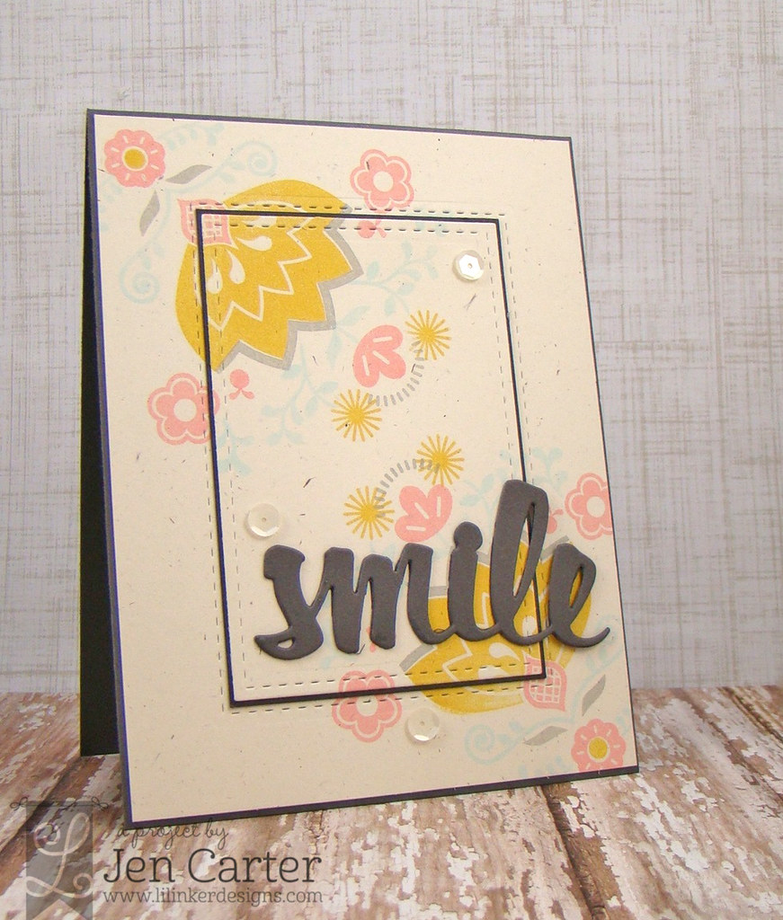 Jen Carter LID Double Stitched Rect Smile Wm