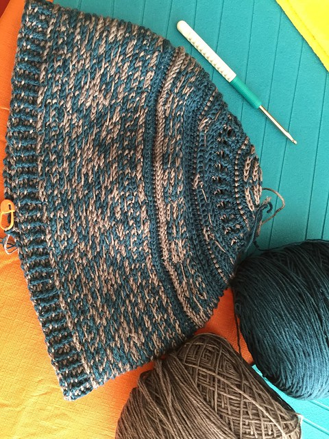 Tapestry crochet hat wip 2015