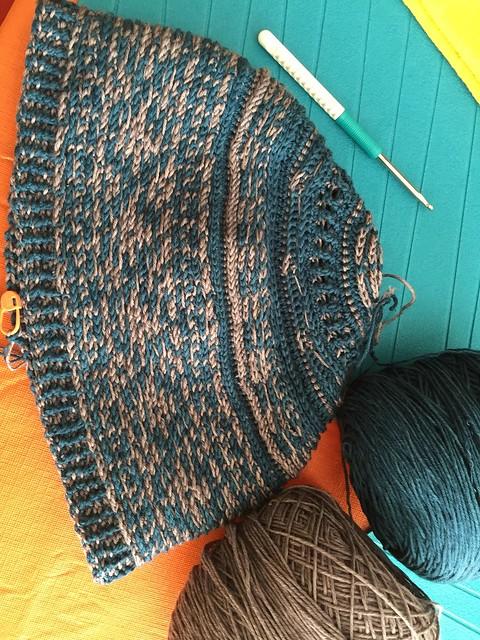 Tapestry crochet hat wip 2015
