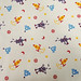 2487B -- Robot Fabric Purple in Linen White, Rocket, Projectile, UFO Fabtric