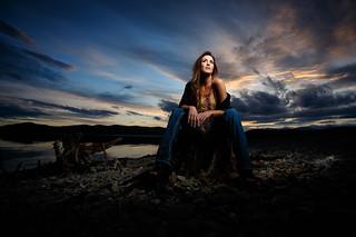 Ellie at Sunset