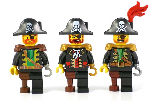 Three Pirate Captains (LEGO Pirates, Pirates 2 & Pirates 3) A