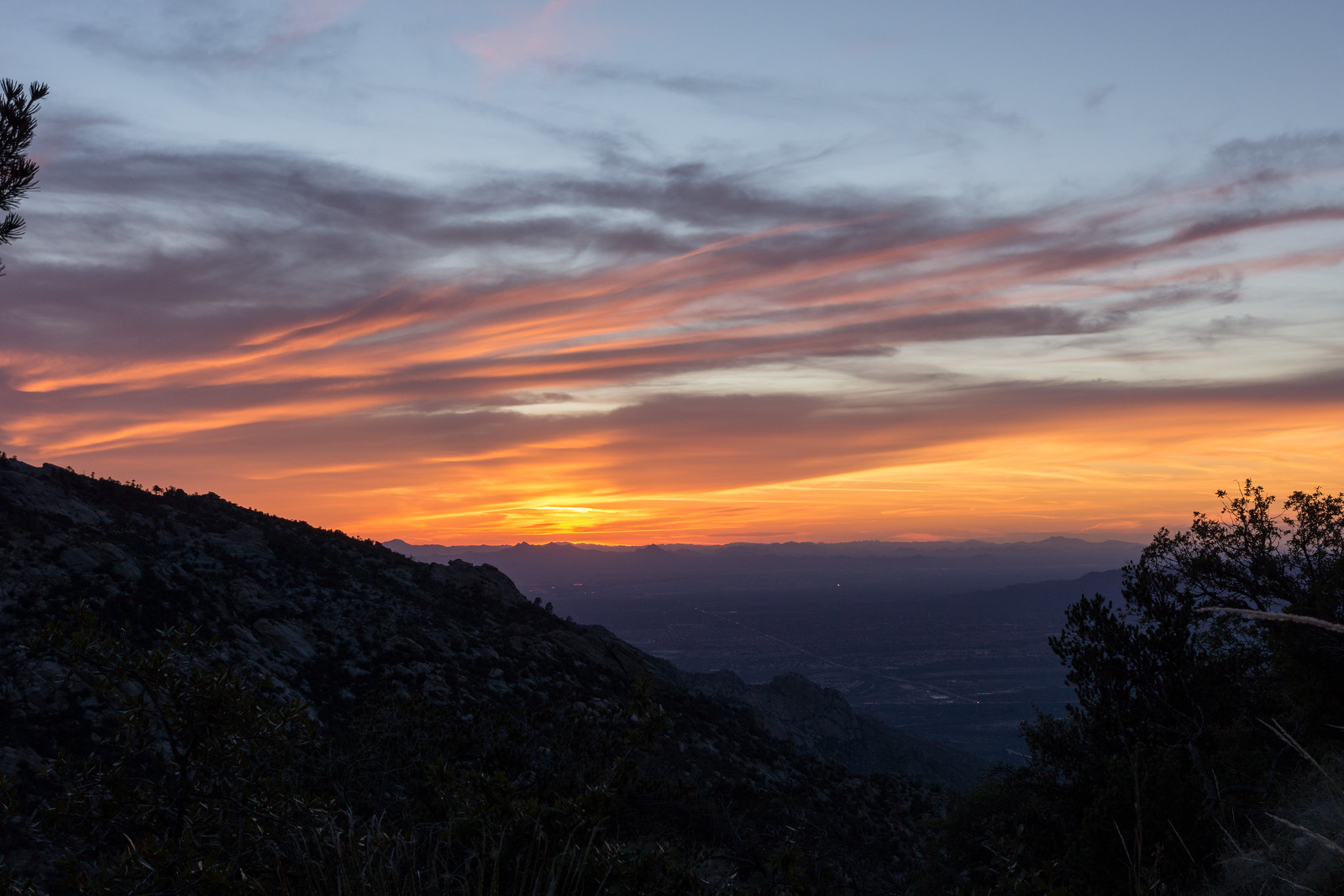 1503 Sunset from the Mount Lemmon Trail near Romero Pass