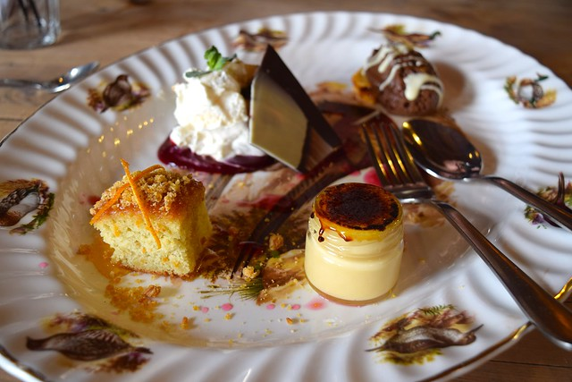 Dessert Platter at The Goods Shed, Canterbury