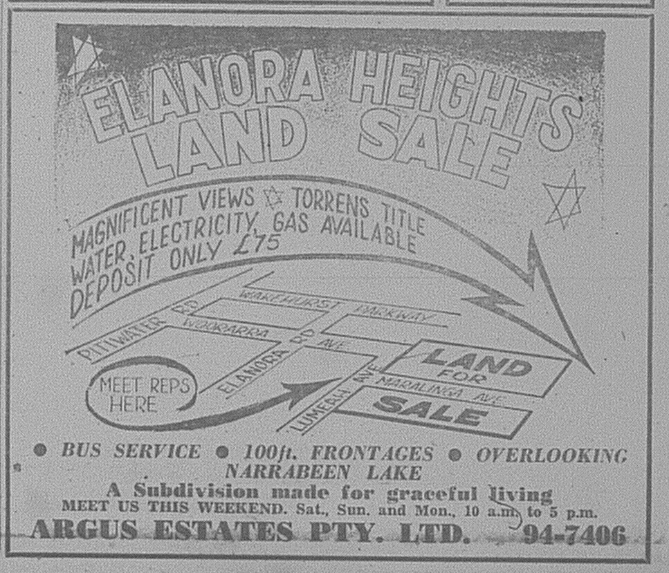 Elanora Heights Ad April 24 1965 daily telegraph 38
