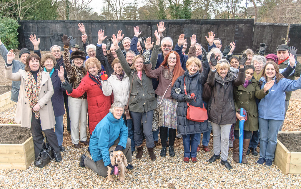 Followers of SAVE at the soon to be ex-Tesco site in Ashtead Village