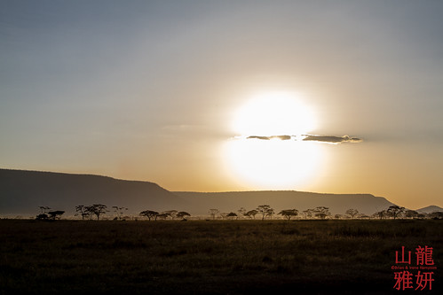 africa sunset landscape tanzania safari serengetinationalpark shinyanga seroneraregion tzday02 africanwildcatsexpeditions
