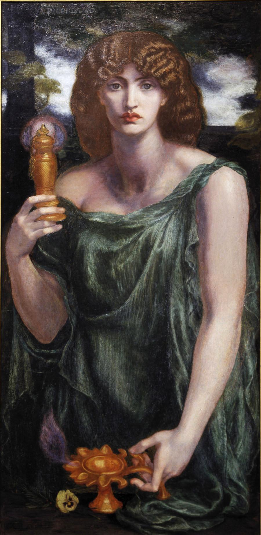 Mnemosyne by Dante Gabriel Rossetti - 1881