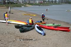 beach - kayak circle