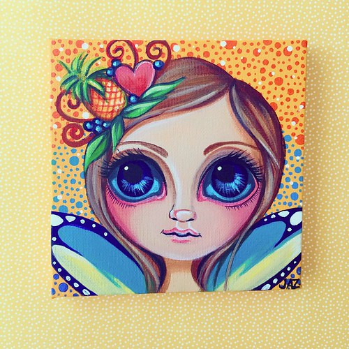 """Little Pineapple Princess"" Original Painting by Jaz Higgins"