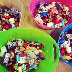 """About to add even more candy """"content"""" to the card sorting exercise for #UXDI students. #UX"""