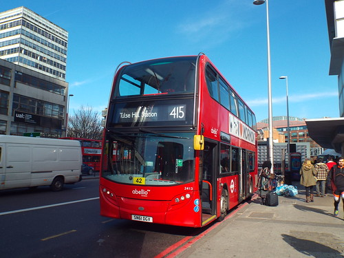 Abellio London 2413, SN61DGV at Elephant & Castle on route 415 to Tulse Hill Station