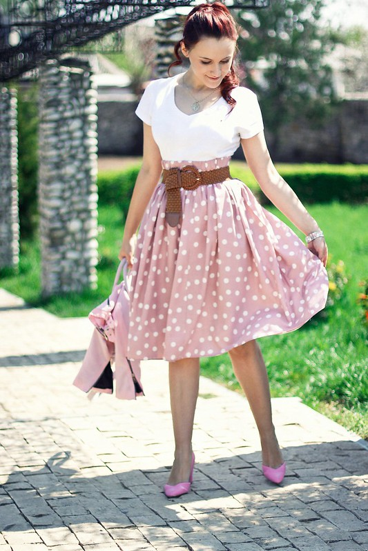 polka dots skirt8