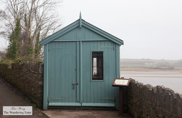 Exterior of Dylan Thomas tool shed