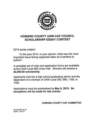 Cap Essay Contest