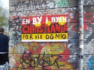 Christiania welcoming you sign (Copenhagen)