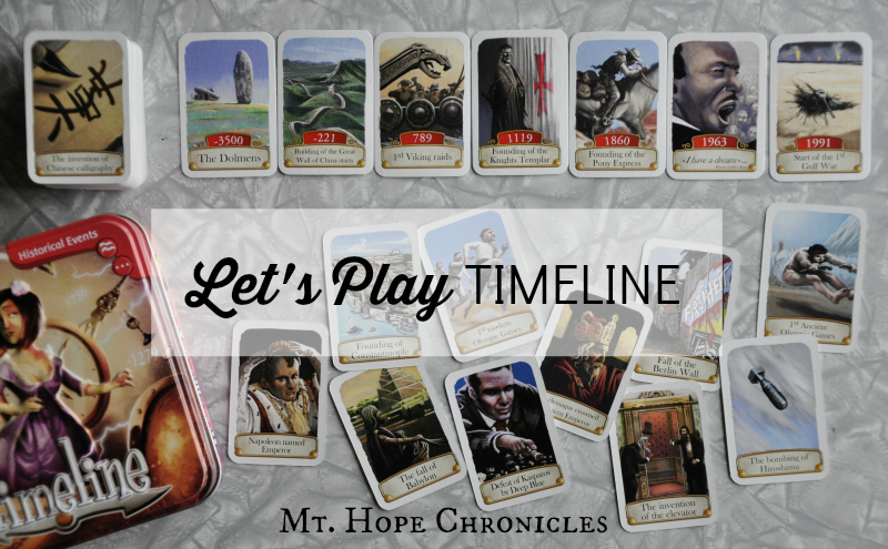 Timeline Game Review @ Mt. Hope Chronicles