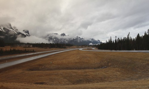Canmore road trip in the rain