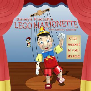 LEGO Ideas - Disney's Pinocchio Marionette with Jiminy Cricket 1