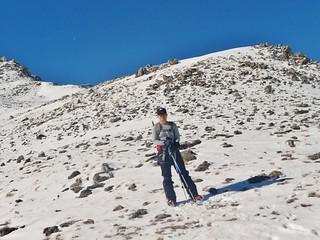 Jane on East Ridge of Mt Massive