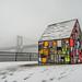 tom fruin glass house in dumbo by Alky Jones
