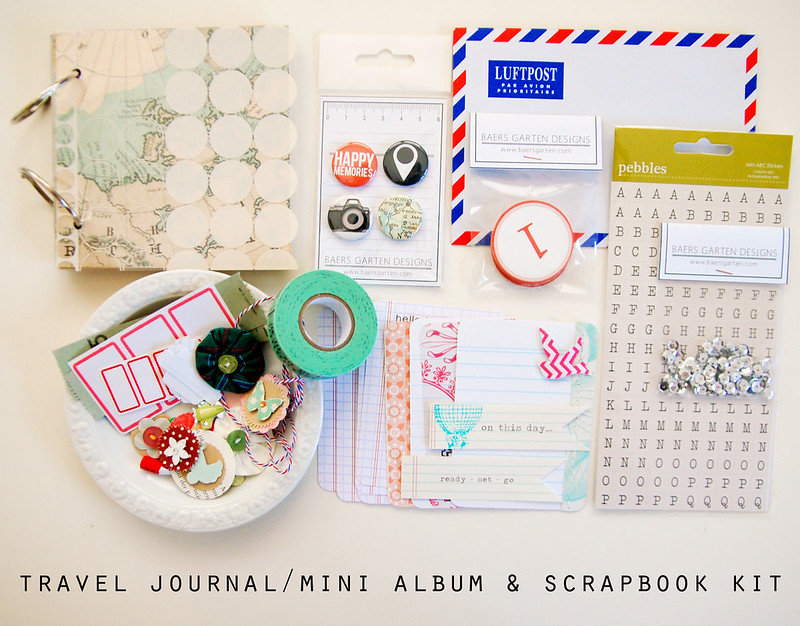 Travel Journal and Scrapbook Kit