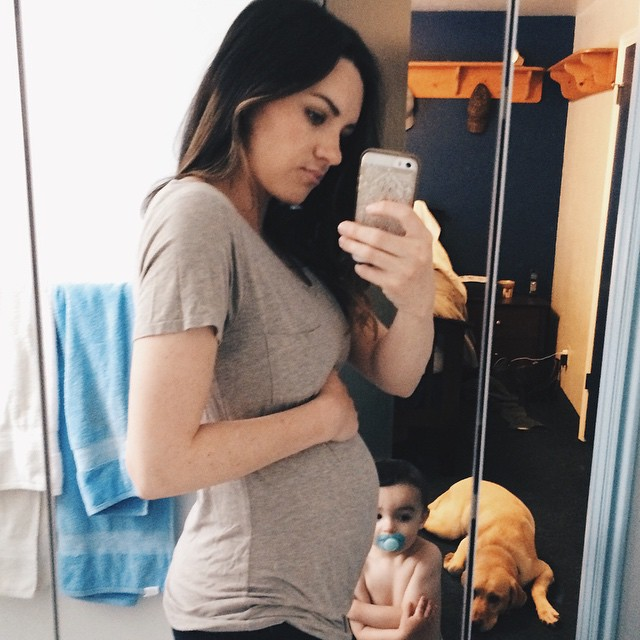22 weeks today. This baby is not growing out the way Ben did. He is growing up, back, and sideways.. But not out. I have to really push my hand/arm in to make it obvious there is a bump or else it just looks like I'm really thick and solid in the middle h