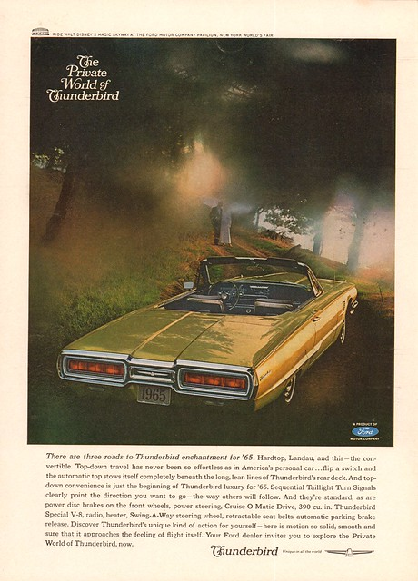 1965 Ford Thunderbird Advertisement Newsweek May 3 1965